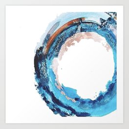 Galaxy: a minimal, colorful watercolor in pinks and blues by Alyssa Hamilton Art Art Print