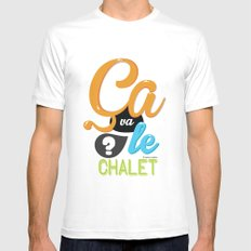 Ca va le chalet ? Mens Fitted Tee MEDIUM White
