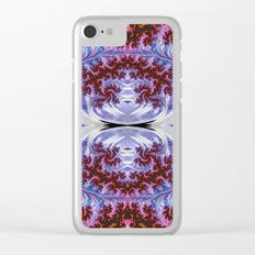 BBQSHOES: Fractal Art Design Mother Of Pearl #1814 Clear iPhone Case