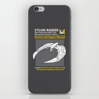 battlestar iPhone & iPod Skins featuring Cylon Raider Service and Repair Manual by adho1982