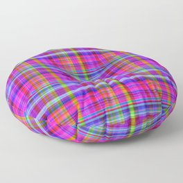 Classic Plaid Floor Pillow