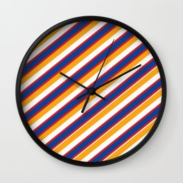 Red, yellow and blue Wall Clock