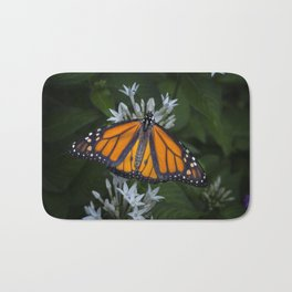 Monarch Butterfly Gathering Nectar Bath Mat