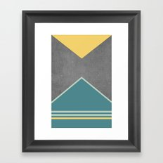 Concrete & Triangles III Framed Art Print