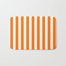 Turmeric Orange Beach Hut Vertical Stripe Fall Fashion Bath Mat