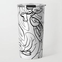 Scribbled Axolotls Travel Mug
