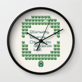 Green Trainer Tips Wall Clock