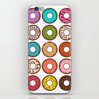 donuts iPhone & iPod Skins featuring Donuts by TinyBee