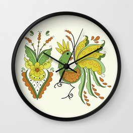 Folklore Rooster - Eivor Wall Clock