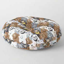 Bears Bears Bears Floor Pillow