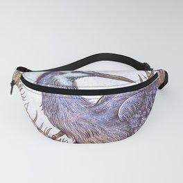 White Faced Heron Fanny Pack