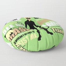 Cat Noir Quotes Floor Pillow