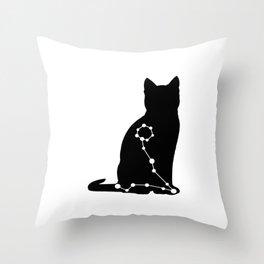 pisces cat Throw Pillow
