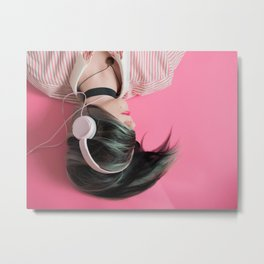 Pink Music Time Metal Print