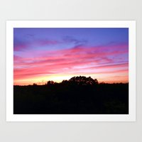 wisconsin Art Prints featuring Wisconsin Sunset by Ron Trickett