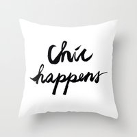 chic Throw Pillows featuring CHIC  by I Love Decor