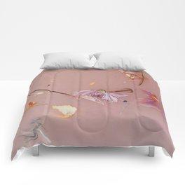 Harry Styles - pink flowers album Comforters