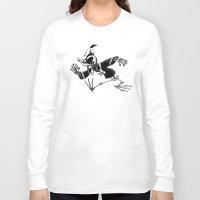 donald duck Long Sleeve T-shirts featuring Donald Duck by Motohiro NEZU
