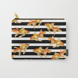 The Golden One II - b&w stripes Carry-All Pouch