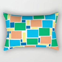 Happy colorful square pattern city from above Rectangular Pillow