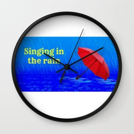 Singing in the Rain Wall Clock