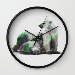 Arctic Polar Bear Family Wall Clock
