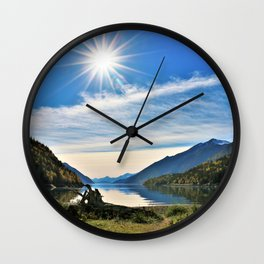 Sunburst over Nahku Bay, Alaska Wall Clock
