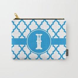 Blue Monogram: Letter I Carry-All Pouch