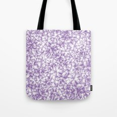 Plumeria Gorgeous Pattern Lilac Tote Bag