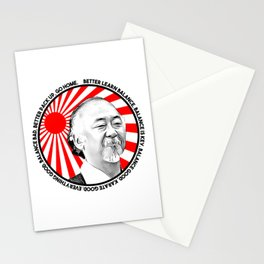 "Mr Miyagi said: ""Better learn balance. Balance is key. Balance good, karate good. Everything good."" Stationery Cards"