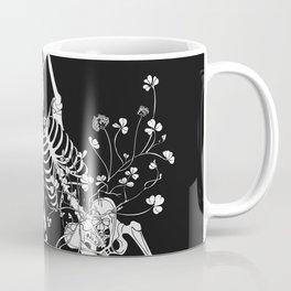girl skeleton flower Coffee Mug