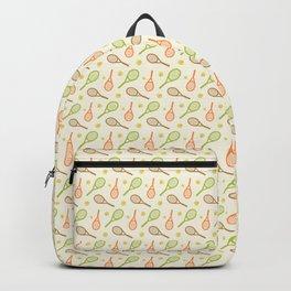 Summer tennis sport pattern Backpack