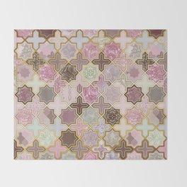 Neapolitan Geometric Tile Pattern Throw Blanket
