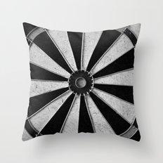 Black and White Darts, Bullseye  Throw Pillow