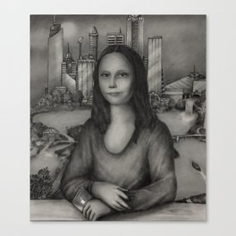 Mona Lisa 2032 Canvas Print