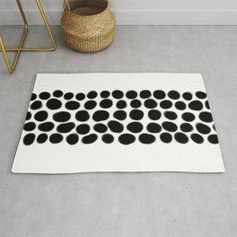 Onyx Black Spots on White Rug