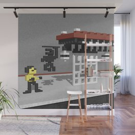 BruceLee Commodore 64 game tribute Wall Mural