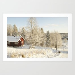 Finland in the winter #2 - Fiskars Artist Village  Art Print
