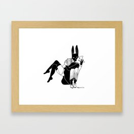 Bunny love Framed Art Print