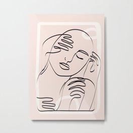 Abstract Minimal Line I Metal Print