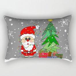 Flaky Merry Christmas Santa Rectangular Pillow