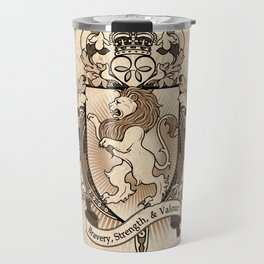 Lion Coat Of Arms Heraldry Travel Mug