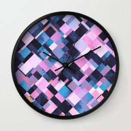 Falling pieces Wall Clock