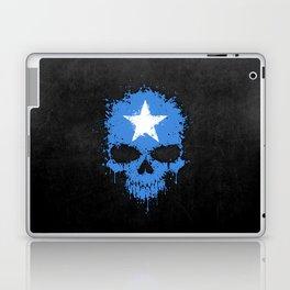 Flag of Somalia on a Chaotic Splatter Skull Laptop & iPad Skin