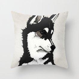 Nico the Husky Throw Pillow