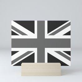 UK Flag 1:2 scale in black & white Mini Art Print