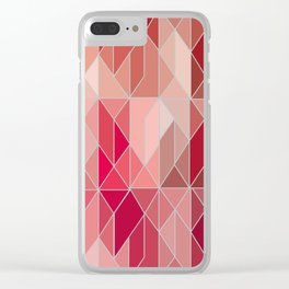 Pattern In Red Gradient Clear iPhone Case