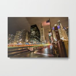 Chicago over night Metal Print