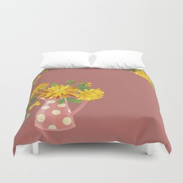 Fragrant Autumn Chrysanthemums Duvet Cover