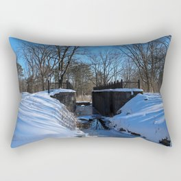 Side Cut Lock in Winter II Rectangular Pillow